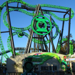 best-roller-coaster--Six-Flags-Magic-Mountain-theme-park-green-lantern