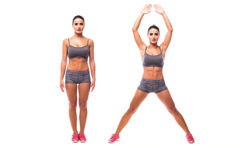 Exercise 1: Jumping Jacks/ Star Jumps