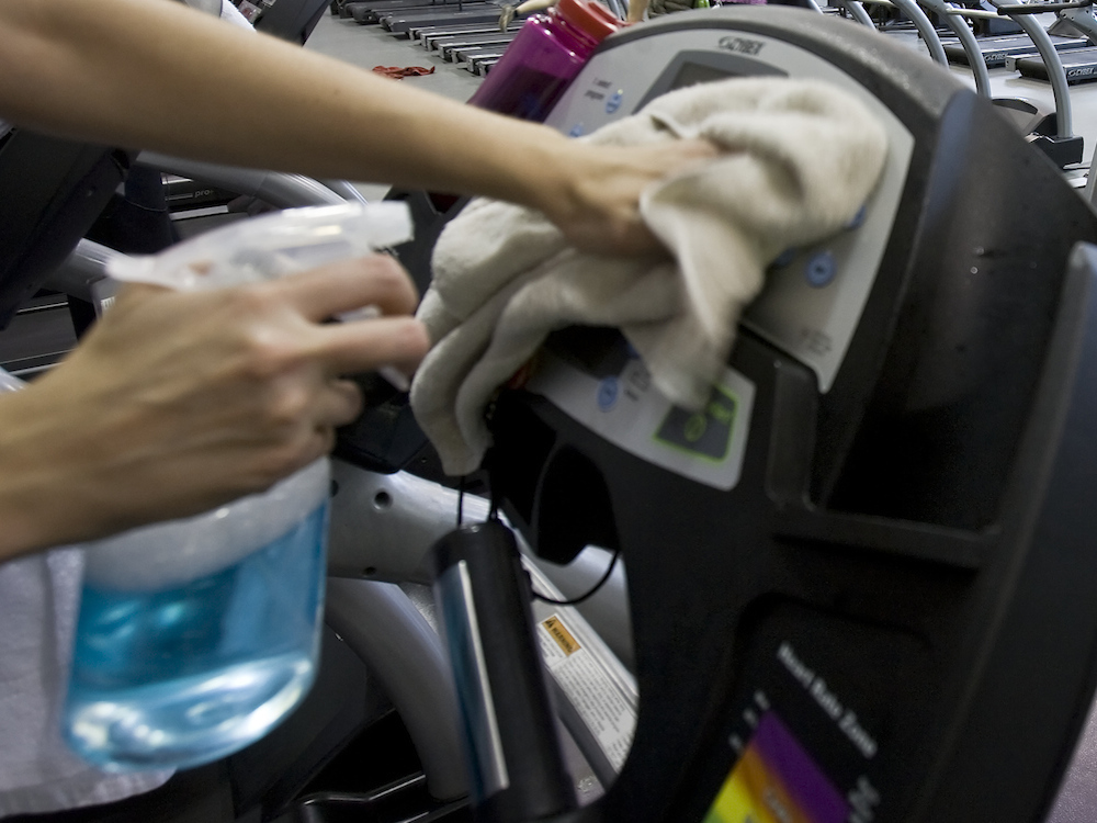 Gym Precaution: Wipe The Machines Down Twice
