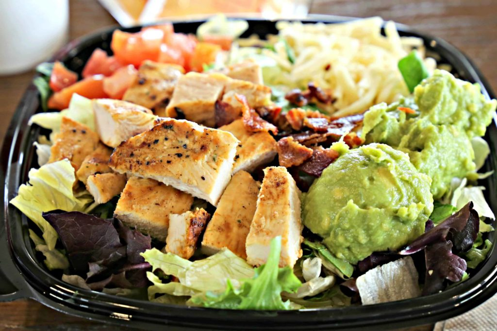 Go To McDonalds And Eat Kind Of Healthy: Southwest Salad With Grilled Chicken